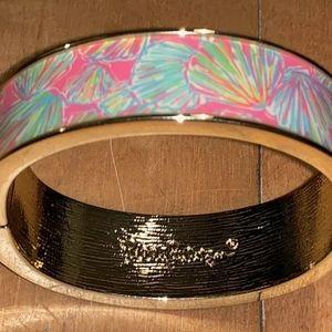 Lilly Pulitzer Pink  Shellabrate Bangle Bracelet